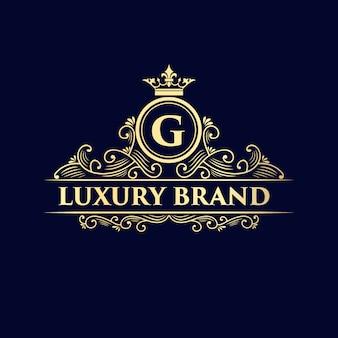 Goldenes kalligraphisches weibliches blumenhand gezeichnetes monogramm antiken vintage-stil luxus-logo-design
