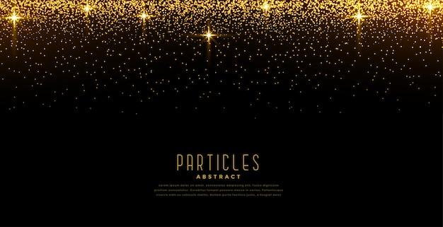 Goldenes licht funkelt sternexplosionshintergrund