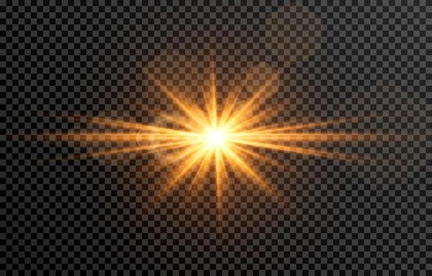 Goldenes licht mit blendung sonne