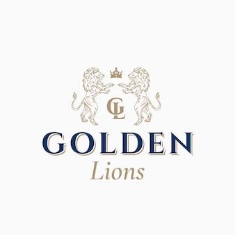Goldenes löwen-logo