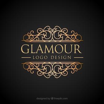 Goldenes Logo in Vintage- und Luxus-Stil
