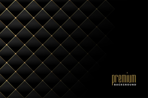 Goldenes luxus-diamantmuster-hintergrunddesign der polsterung