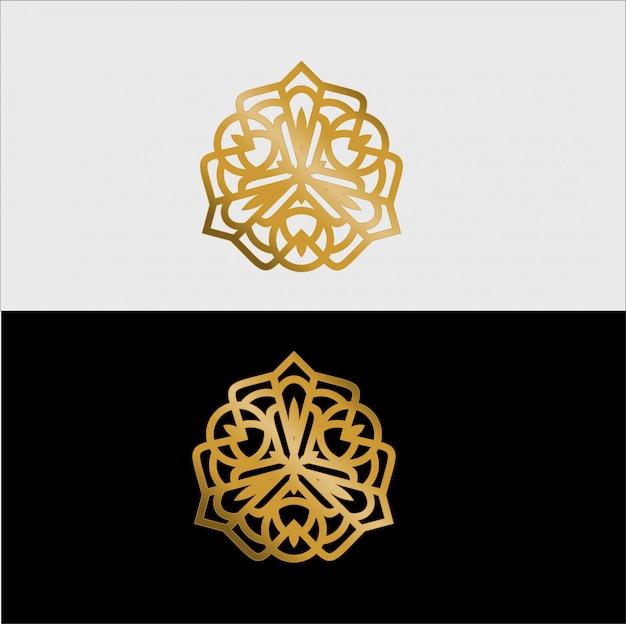 Goldenes luxus-mandala