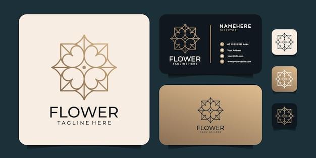 Goldenes luxuslogo mit visitenkarte
