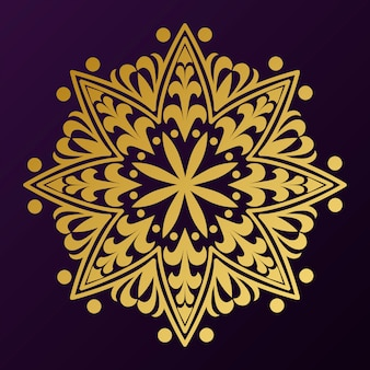 Goldenes mandala-abzeichen