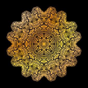 Goldenes mandala-kreismuster