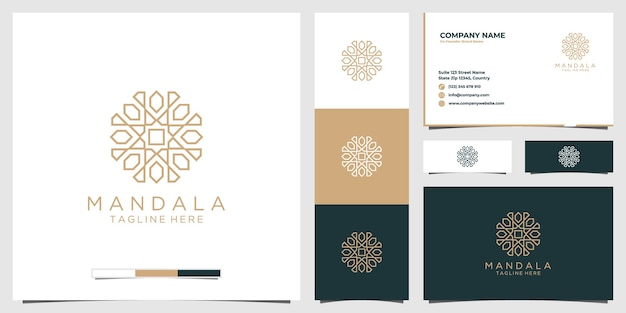 Goldenes mandala-logo luxus