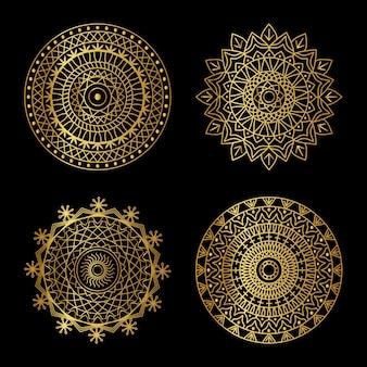 Goldenes mandala-set