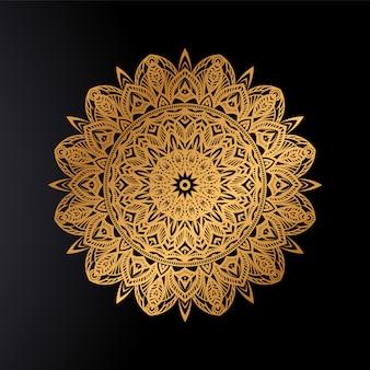 Goldenes mandala