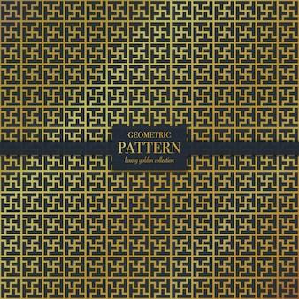 Goldenes mosaikmuster des geometrischen luxus