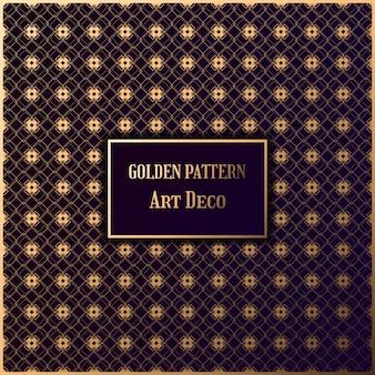 Goldenes muster art deco