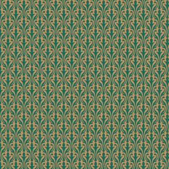 Goldenes muster auf grünem hintergrund