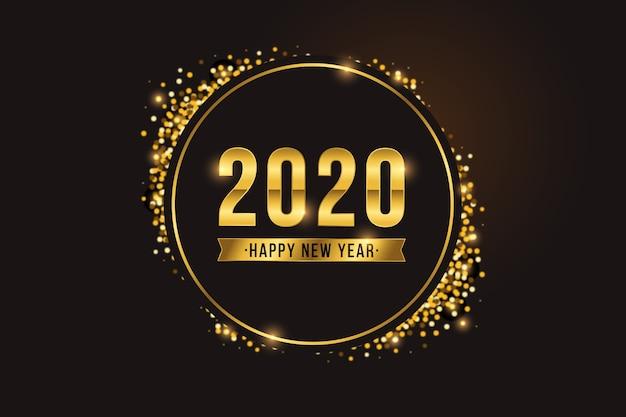 Goldenes neues jahr 2020 backgroundgolden hintergrund des neuen jahres 2020golden hintergrund des neuen jahres 2020