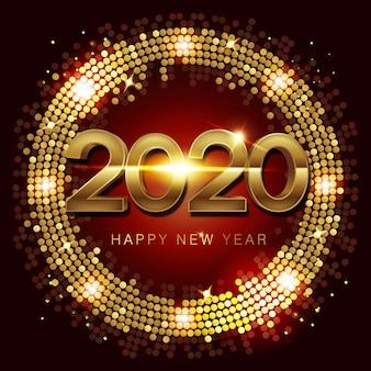 Goldenes neues jahr 2020