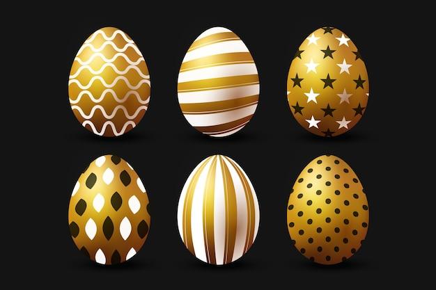Goldenes ostertag eiersammelkonzept