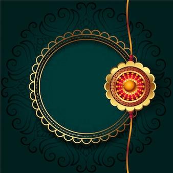 Goldenes rakhi für das rakha bandhan festival