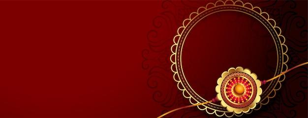 Goldenes rakhi für das raksha bandhan festival