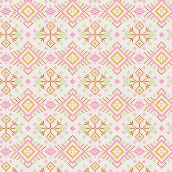 Goldenes rosa songket-muster