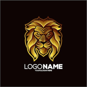 Goldenes schaf-logo-design