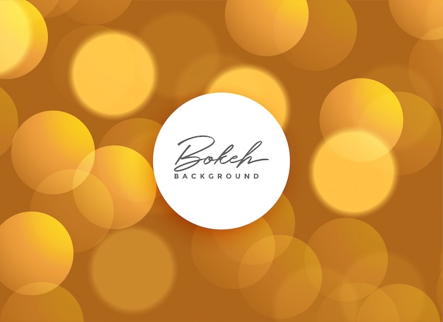 Goldenes schönes bokeh beleuchtet hintergrund