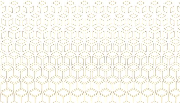 Goldenes sechseckiges muster