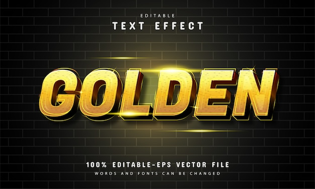 Goldenes texteffektdesign