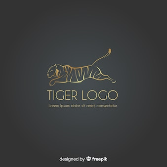 Goldenes tiger-logo