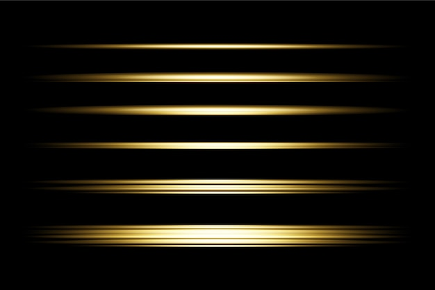 Goldenes transparentes licht lens flares design eps