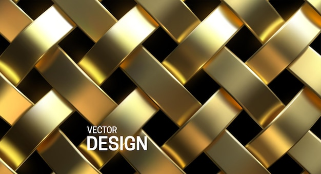 Goldenes weidenmusterdesign