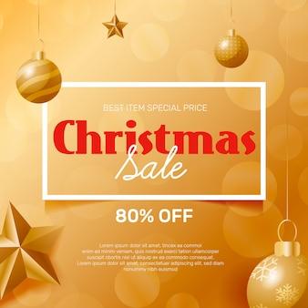 Goldenes weihnachtsverkaufskonzept