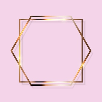 Goldfarbe glitzernder strukturierter rahmen auf transparentem. illustration