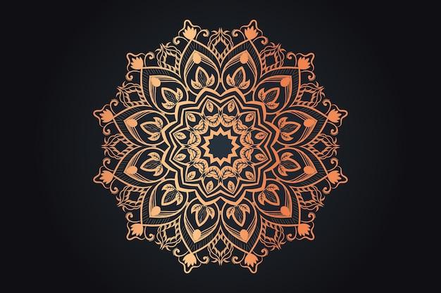 Goldfarbenes luxuriöses dekoratives mandala-design