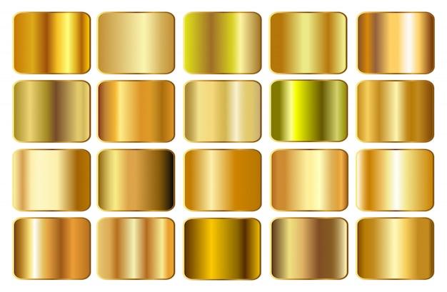 Goldfarbverlauf eingestellt