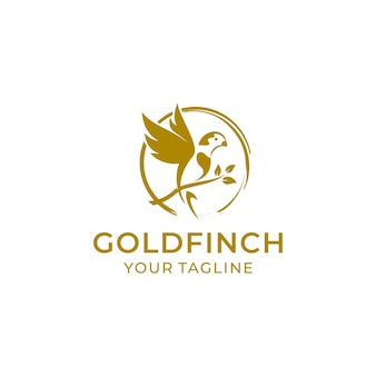 Goldfinch logo design vorlage