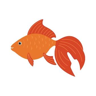 Goldfisch. bunte cartoon-flache aquarienfische-symbol für ihr design.