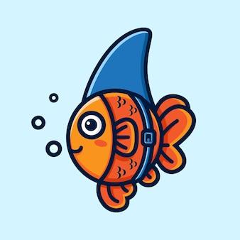 Goldfisch-designs als haie verkleidet