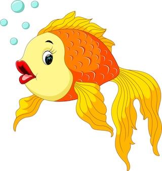 Goldfisch mit blasen