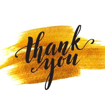 Goldfleck backgrount und wörter danken ihnen