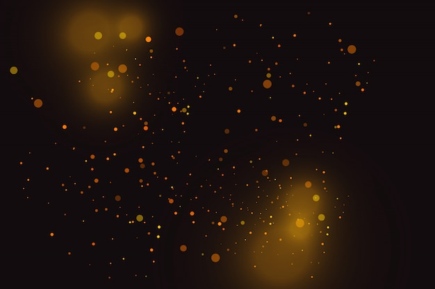 Goldfunken und goldene sterne glitzern als besonderer lichteffekt. funkelt auf transparentem hintergrund.