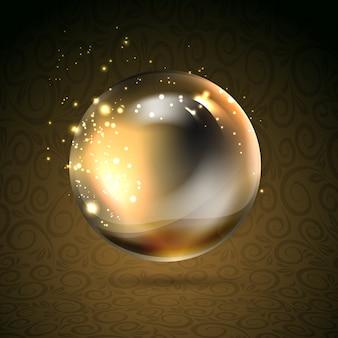 Goldglänzendes perl