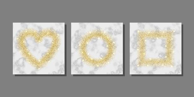 Goldglitter auf marmorhintergrundschablonen für gruß- und geburtstagskarte