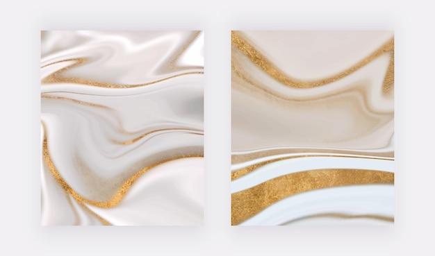 Goldglitter wandkunstdrucke mit flüssiger textur