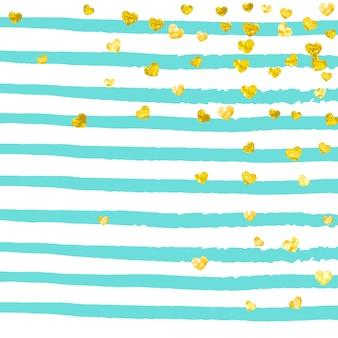 Goldglitzerkonfetti mit punkthintergrund