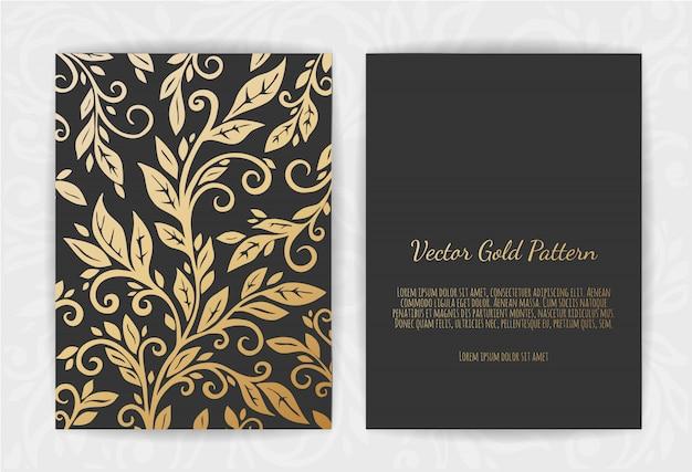 Goldgrußkarte auf schwarzem
