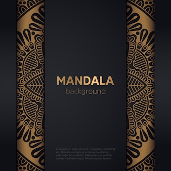 Goldhintergrund mit mandala
