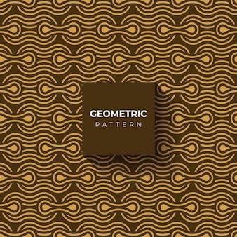 Goldhintergrund oder -muster des geometrischen stils