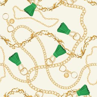 Goldketten-nahtloses luxusmuster