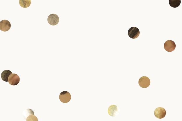 Goldkonfettifeier-hintergrundvektor