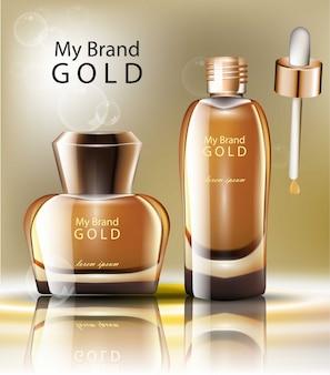 Goldkosmetikverpackung