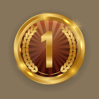 Goldmedaille. symbol erster platz
